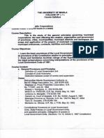 Law on Public Corp Syllabus