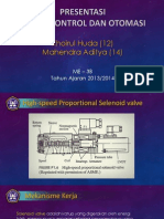 Sistem Kontrol Dan Otomasi Presentasi _ High Speed Proportional Selenoid Valve