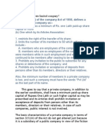 Formation of Private Limited Company
