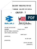 Managmen Perspective on hero honda and bajaj Report