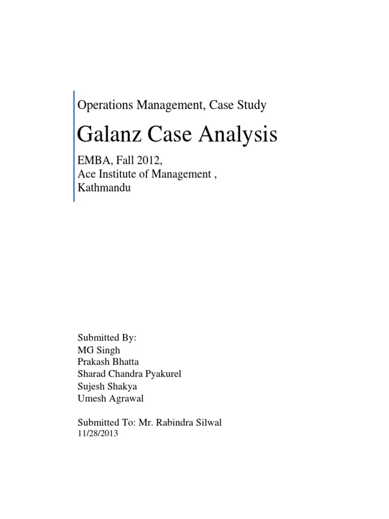 galanz case study Case study analysis is an important part of most business school curriculums if you are interested in learning more about analyzing case studies or if you are looking for tips on writing a.