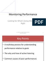 Monitoring Performance(Looking for What's Going Wrong and Right)