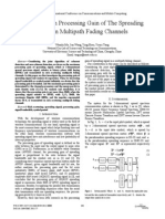 The Maximum Processing Gain of the Spreading Signal in Multipath Fading Channels