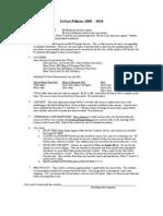 TaVaci Policies 2009-2010
