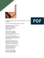 Rihanna - Love Without Tragedy Lyrics