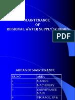 Maintenance of Regional Water Supply Schemes