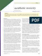 Local Anaethetic Toxicitye