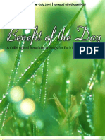 Benefit of the Day Issue 03