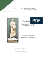 Filipicas de Demostenes 1 y 2  por E Santos traduccion al Español