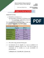 Tercera Declinacic3b3n Temas en Diptongo y Vocal