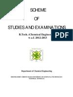 Revised B.tech. Chem Engg 2013-14