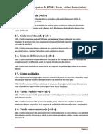 Ejercicios de HTML 2