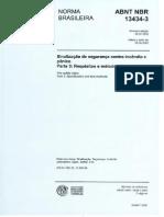 ABNT - NBR 13434 - 3 - 2005 -Sinalização  de segurança contra incêndio - requisitos e ensaios