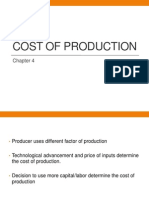 Cost of Productioncert
