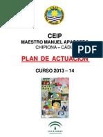 Plan de Actuacion Del Centro 2013-14 Claustro