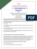 MK0018–International Marketing