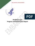 HealthCare.gov Progress Report Final