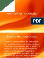 Psychoanalytic Criticism fo humanities