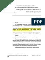 A Utilização de Recursos Didático-Pedagógicos na motivação da aprendizagem