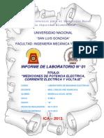 INFORME N°01 LABORATORIO MAQUINAS ELECTRICAS