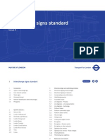 TFL Interchange Sign Standard
