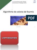 Algorithme de Colonie de Fourmis 2 FSTF