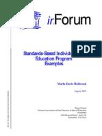 Standards BasedIEPExamples