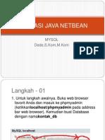 01 Aplikasi Java Netbean