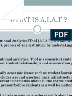 Academic Institutional Analytical Tool (AIAT)