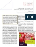 Silicone Emulsion Aspects and Application