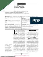 enteral vs parenteral nutrition after major abdominal surgery