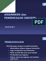 Anamnesis Obstetri Dan Pemeriksaan