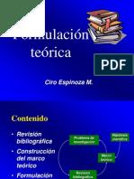 3. formulación teórica