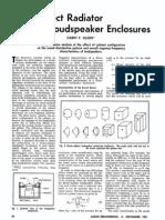 Olson Direct Radiator Loudspeaker Enclosures
