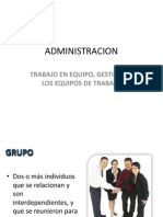 Administracion Trabajo en Equipo