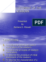 Initial Assessment of the Neonate