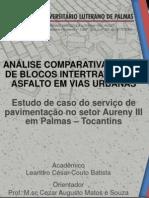 ANÁLISE COMPARATIVA DO USO DE BLOCOS INTERTRAVADOS