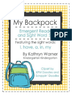My Backpack Emergent Reader and Sight Word Set