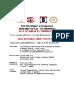 5th ISTANBUL Rhythmics Cup 2013 English 1