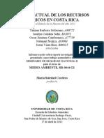 Estado actual de los recursos hídricos en Costa Rica