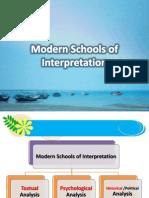 Modern Schools of Interpretation
