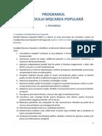 Programul Partidului Miscarea Populara