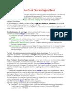 Riassunti Di Sociolinguistica PDF