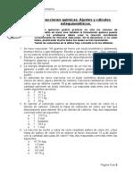 Reacciones químicas, cálculos en masa y formulación