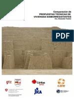 Comparación de propuestas de viviendas sismo resistentes