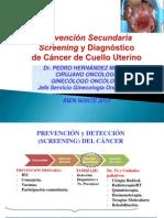 SCREENING y DIAGNÓSTICO DE CÁNCER DE CUELLO UTERINO 2013