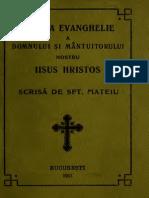 Evanghelia Sf Mateiu 1913