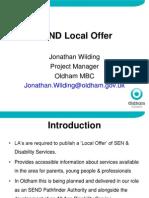 Local Offer - Workshop -24!10!2013