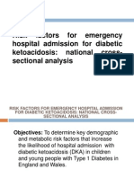 Risk Factors for Emergency Hospital Admission for DKA
