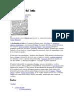 Declinación del latín